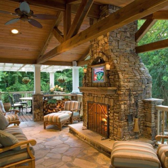 Outdoor Fireplace Real Wood Burning