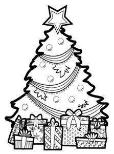 Christmas Tree Lights Coloring Page