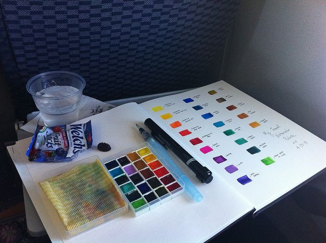 My Diy Travel Palette By Ginaleekim Via Flickr Watercolor