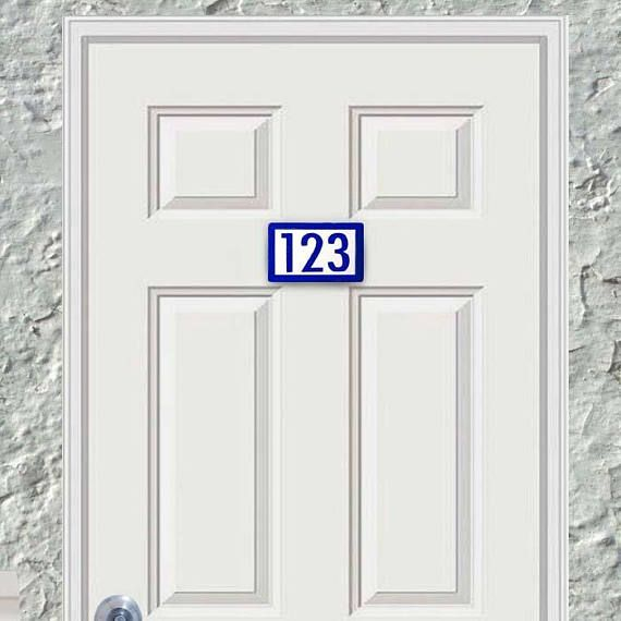 Small and Simple Apartment Door Number Tiles, Numbers for ...