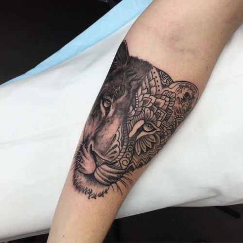 Lion Tattoos For Women Topstoryfeed Feather Tattoos Female Lion Tattoo Thigh Tattoos Women