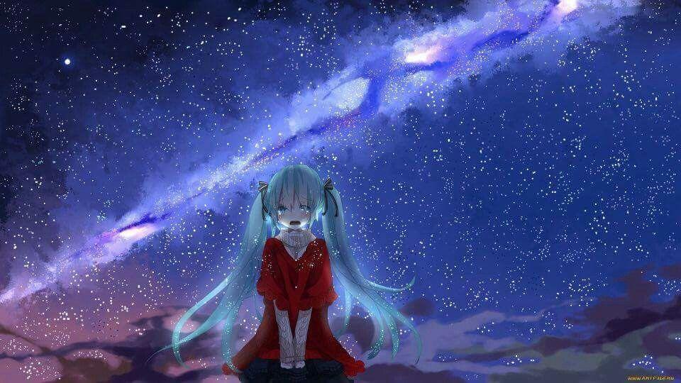 anime galaxy girl wallpaper