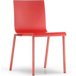 Photo of Pedrali Kuadra Xl 2401, white seat, satined Pedrali frame