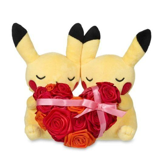 Paired Pikachu Plushies released by the Pokemon Center -