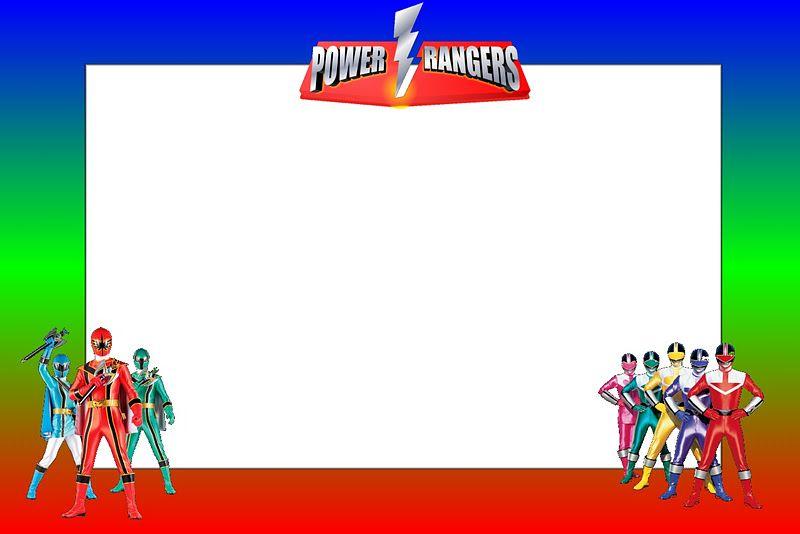Power Rangers Free Printable Invitations Boys Birthday