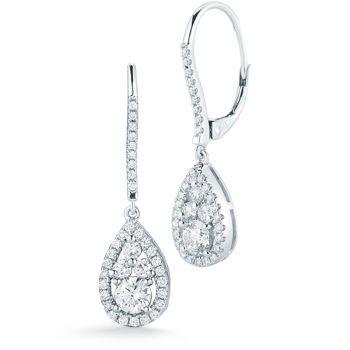 3c978533f Costco: Round Brilliant 0.95 ctw VS2 Clarity, I Color Diamond 14kt White  Gold Tear Drop Earrings