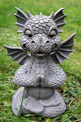 Susser Gartendrache Im Lotussitz Yoga Drache Figur Gartenfigur Amazon De Garten Gartenfiguren Drachenfiguren Drachen