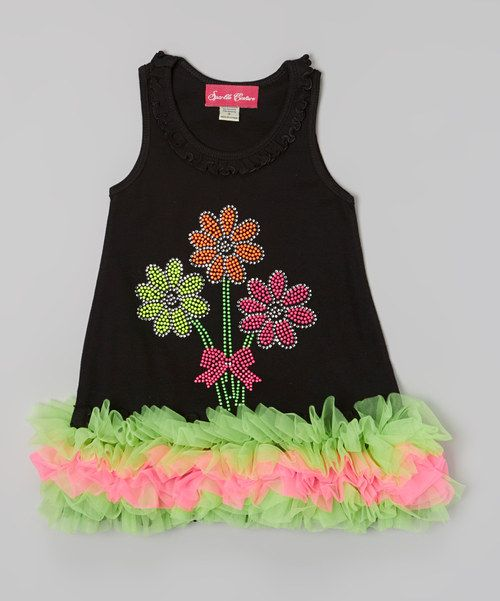 This Black Flower Ruffle Dress - Infant, Toddler & Girls by The Princess and the Prince is perfect! #zulilyfinds