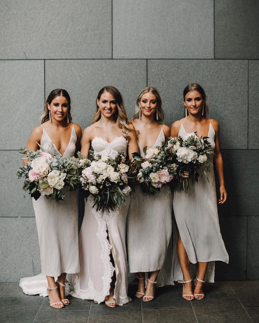 Wedding Venues Near Me Cheap: Botanical Bridal Bouquet, Grey Natalie Rolt Bridesmaid