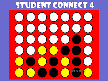 Student Connect  Template  Game Boards Educational Games And
