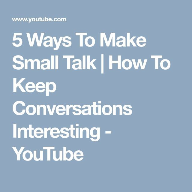 Small Talk Internet-Dating