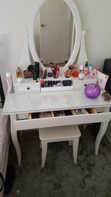 My vanity dresser set up