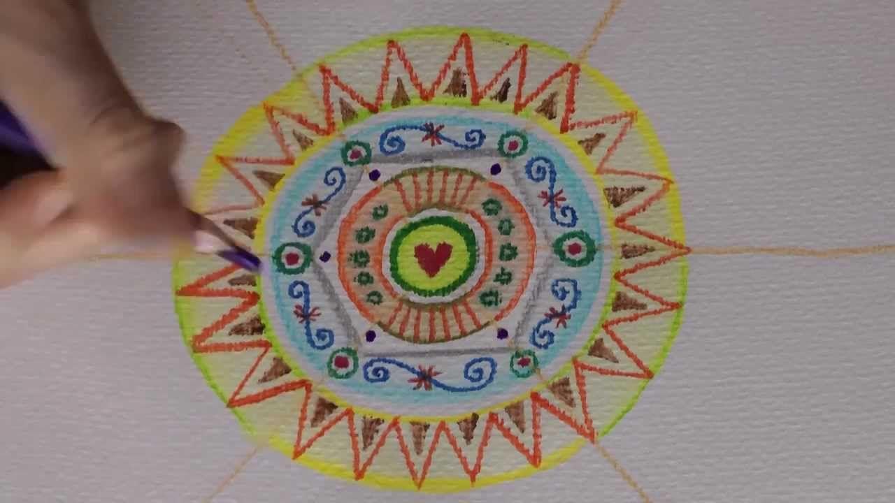 5 Mandalas In 9 Minuten Ulrike Hirsch Mandala Doodle Art