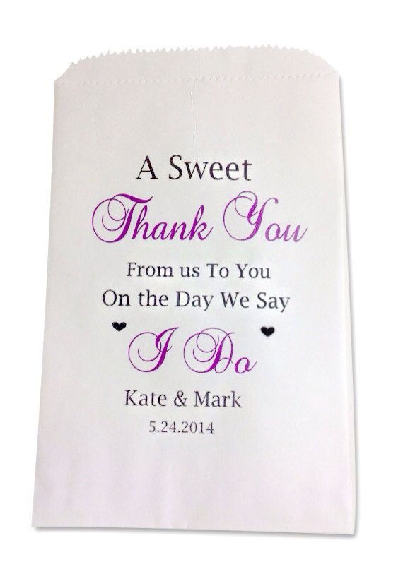 Personalized Wedding Favor Bags Candy Buffet by SweetLoveCandy, $25.00