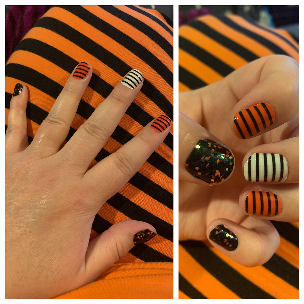Halloween Color Street 2020 Combos Color Street Nails Halloween Combo in 2020 | Color street nails