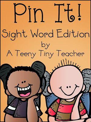 Pin It - Sight Word Edition (and a freebie) - A Teeny Tiny Teacher