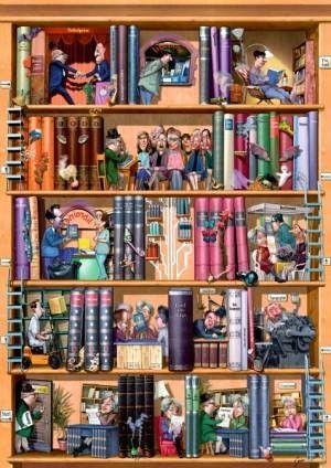 HEYE Igor Kravarik Books Jigsaw Puzzle (1500) | HEYE Igor Jigsaw Puzzles | Jigsaw Paradise Australia http://jigsawparadise.com.au/heye-igor-kravarik-books-jigsaw-puzzle-1500