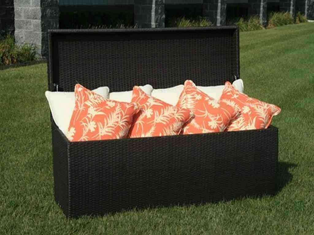 Patio Cushion Storage Bench