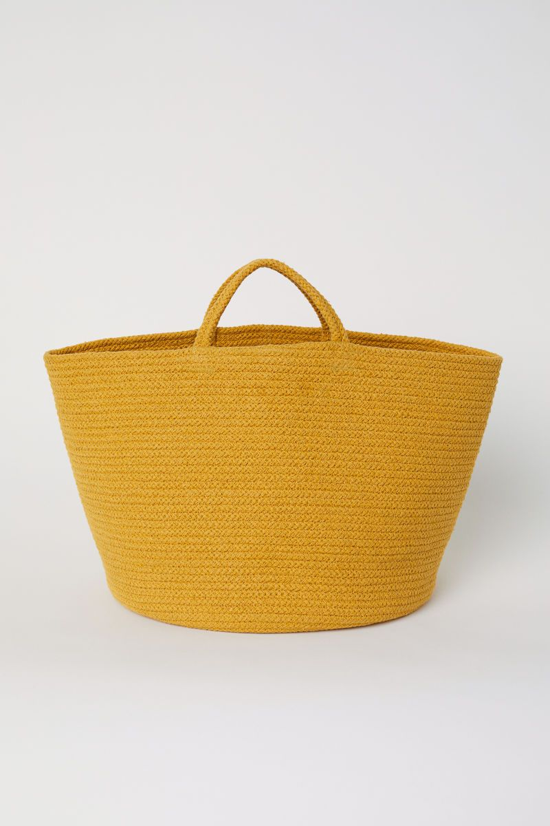 Delft H&m Cotton Storage Basket Dark Yellow H M Home H M Us