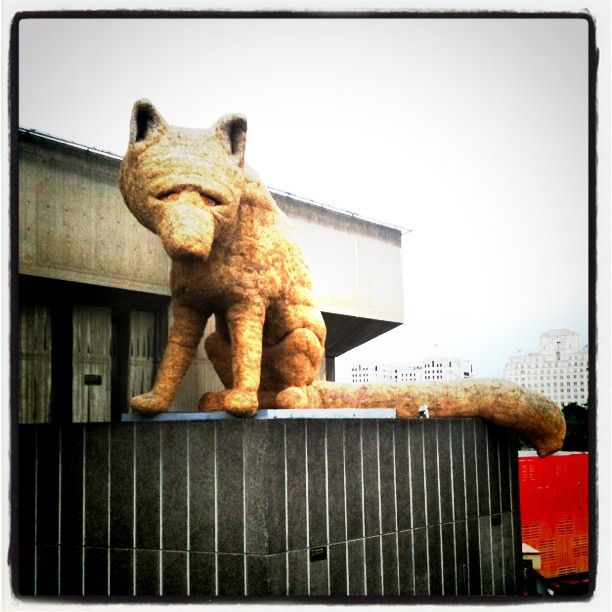 A giant hay fox. Of course. by Triston Wallace, via Flickr