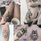 Photo of Best 100+ Wolf Tattoo Ideas – Wolf Tattoo Design Ideas with Meaning       This i…
