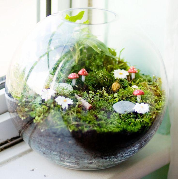 Wonderful Fairy Garden In A Terrarium