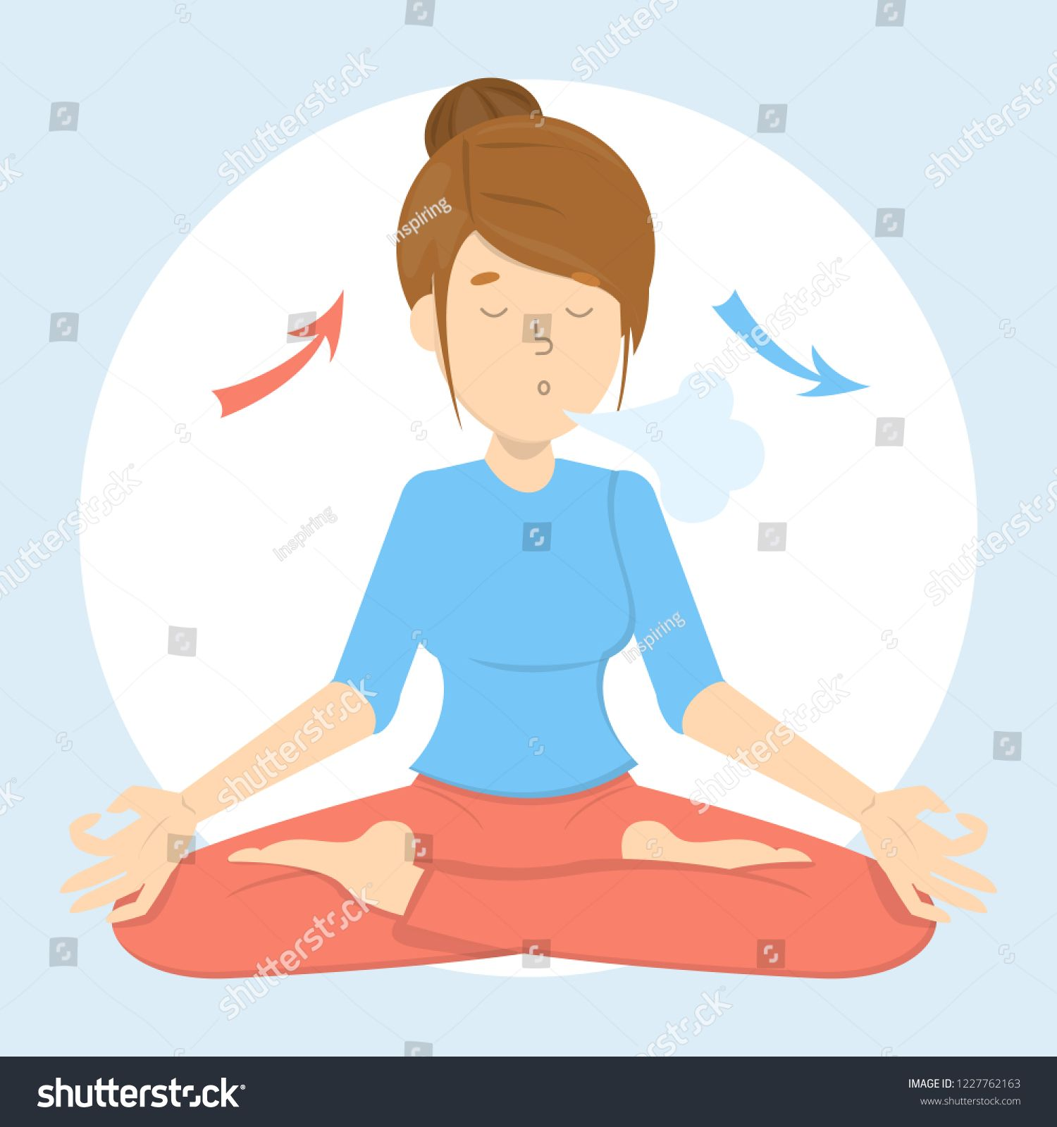 Breath Exercise For Good Relaxation Breathe In And Out For Relax Deep Breathing Method And Body Sca Breath In Breath Out Relaxation Breathing Deep Relaxation