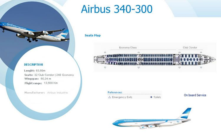 aerolineas argentina airlines airbus a340 300 aircraft seating chart rh pinterest com