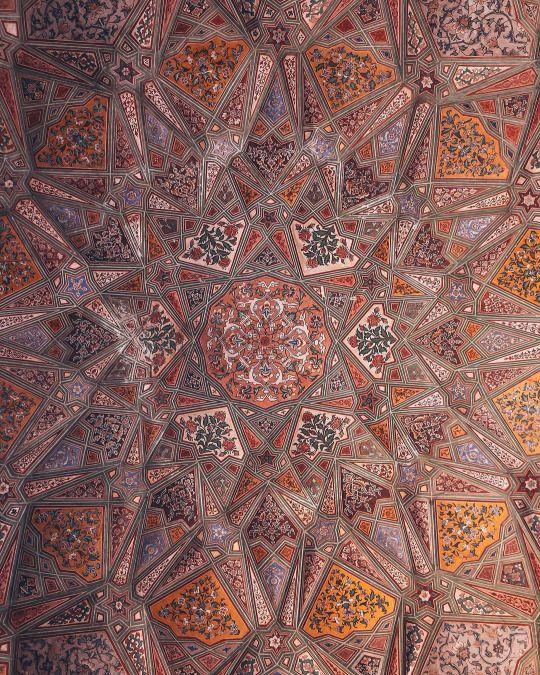 Abid Wazir Khan Mosque Lahore Pakistan Instagram Aabbiidd Pattern Islamic Motifs Islamic Mosaic Indian Architecture