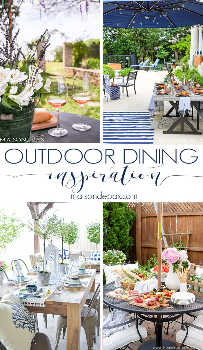 Outdoor Dining Inspiration | Outdoor entertaining, Outdoor dining ...