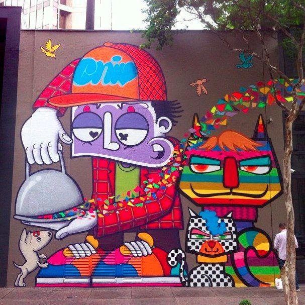 Distorsi n urbana arte urbano graffiti pinterest for Graffitis y murales callejeros