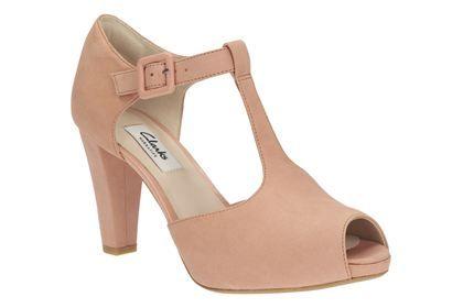 erstklassig Modestil gut aussehen Schuhe verkaufen Clarks Kendra Flower - Pfirsich-orange Nubuk - Elegante ...