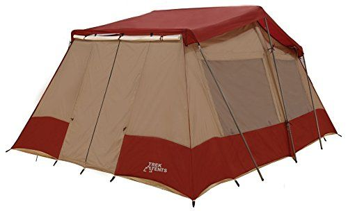 Screen tent  sc 1 st  Pinterest & Trek Tents 240 Three Room Nylon Taffeta 10 Person Cabin 10 x 16 ...
