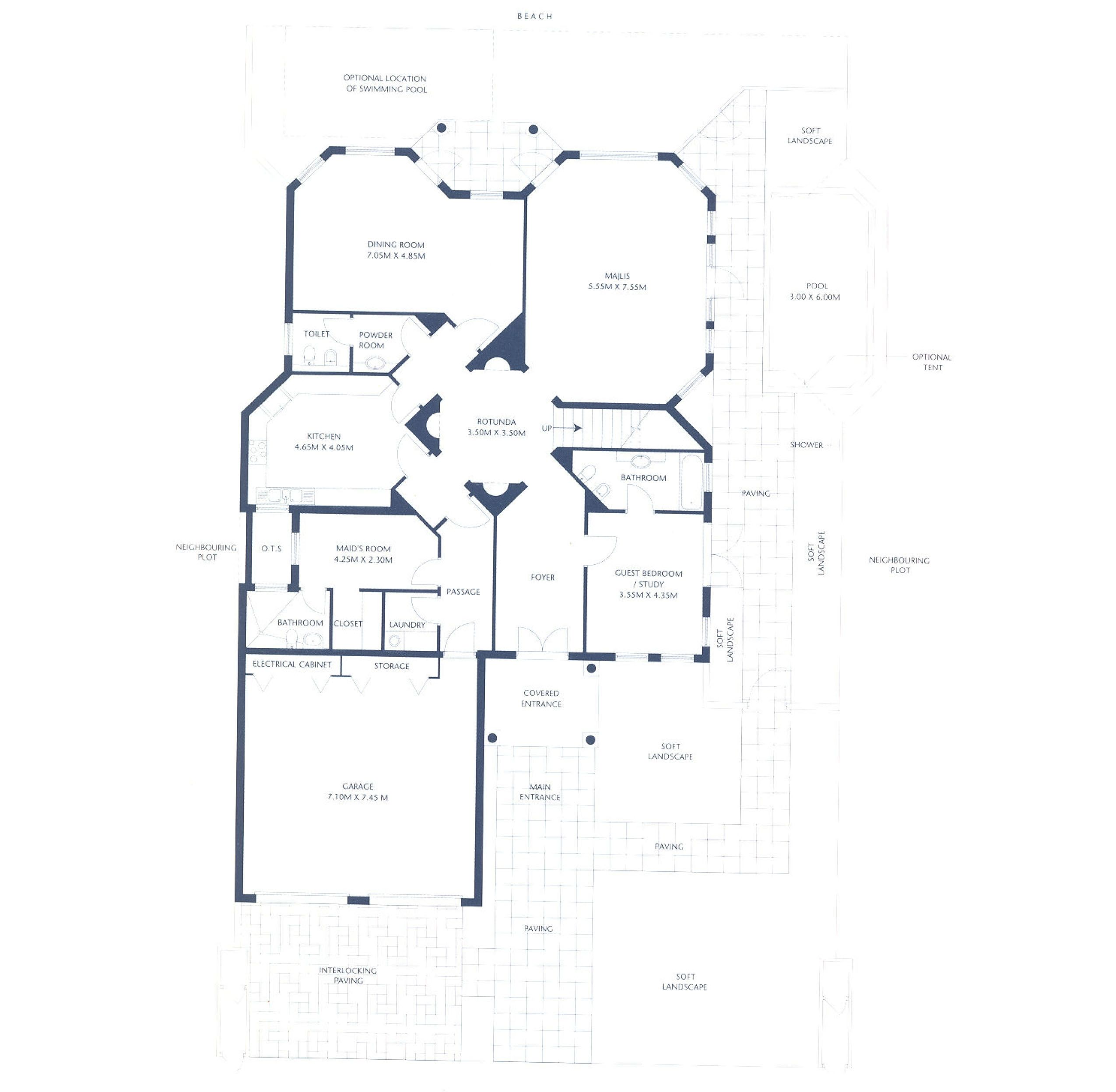 Charming Palm Jumeirah Garden Home Floor Plans