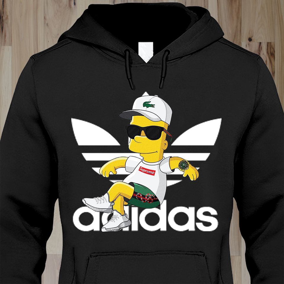 614d0a190e6  49.99 Bart Simpsons - Adidas! Perfect Hoodie for you!