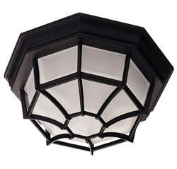 $60 Photon 1 Light 5'' Black Fluorescent Flush Mount With Frosted Glass  indoor boob light replacement?