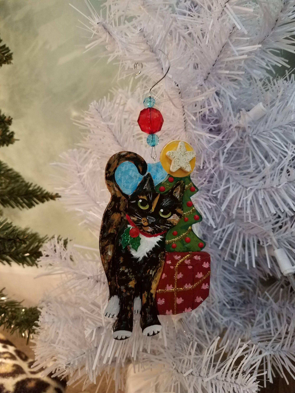 Tortoiseshell Cat Ornament Personalized Ornament Cat