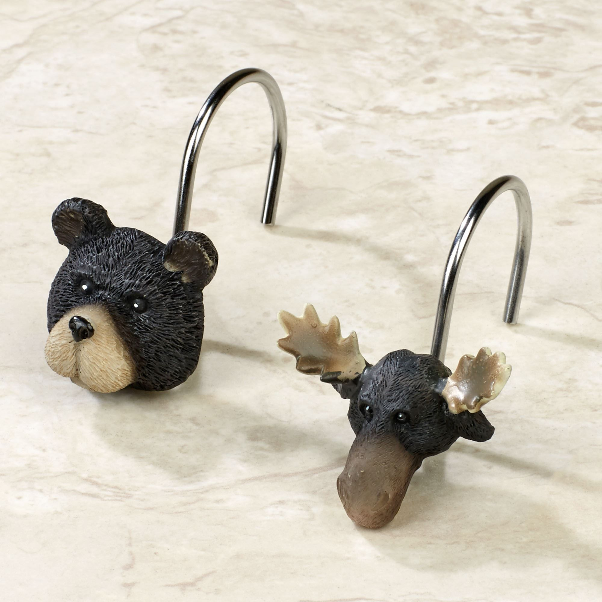 Rustic Shower Curtain Hooks