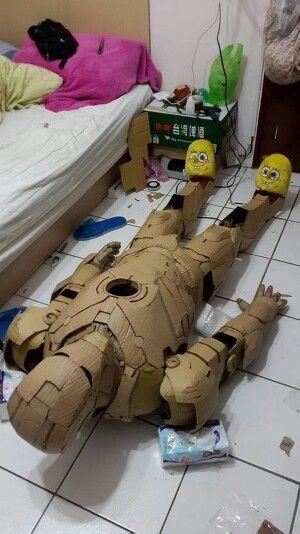 Cardboard ironman suit