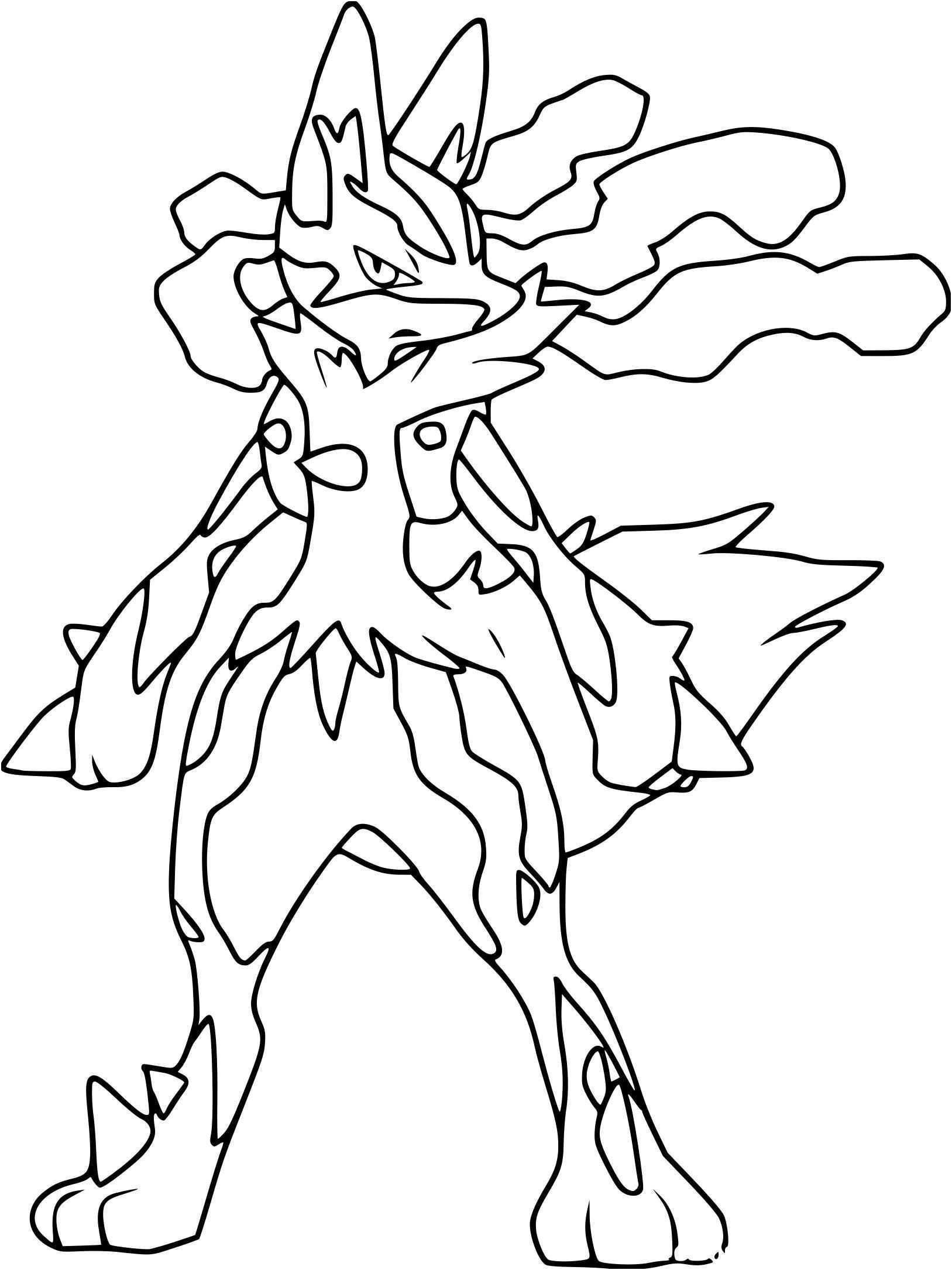 Coloriage Pokemon Mega Evolution Coloriage Pokemon Coloriage