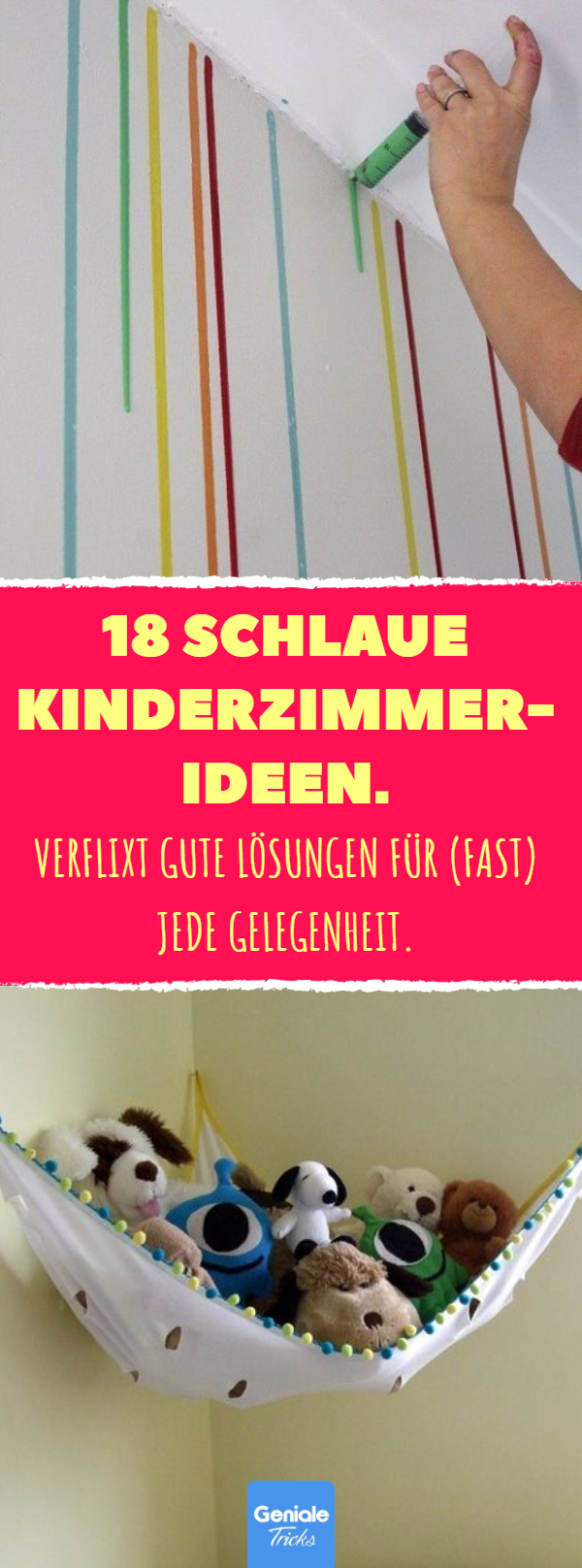18 schlaue kinderzimmer ideen kinderzimmer einrichten einrichtung wandgestaltung diy. Black Bedroom Furniture Sets. Home Design Ideas