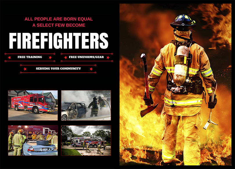 Do you have what it takes to be firefighter?  Click here, provide us your contact information,  and someone from our New Member Services Team will be in touch with you.  They will arrange a visit for you at one of our stations to experience the life of a firefighter first hand!