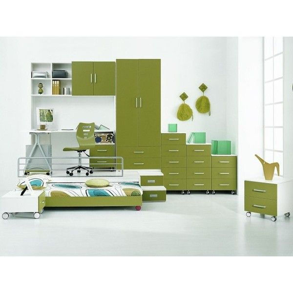 Innovative Cozy Boys\u0027 Rooms Green Mobile Storage Trundle Bed Boys