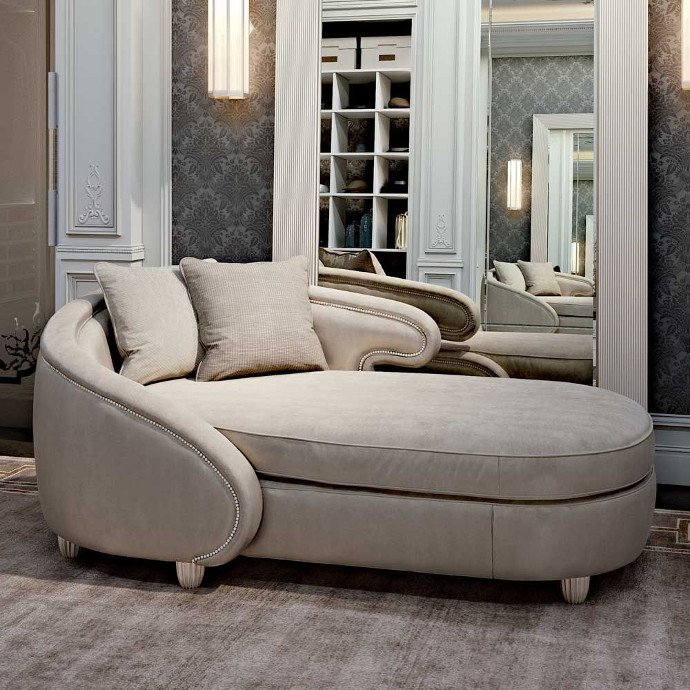 Curved contemporary chaise longue juliettes interiors