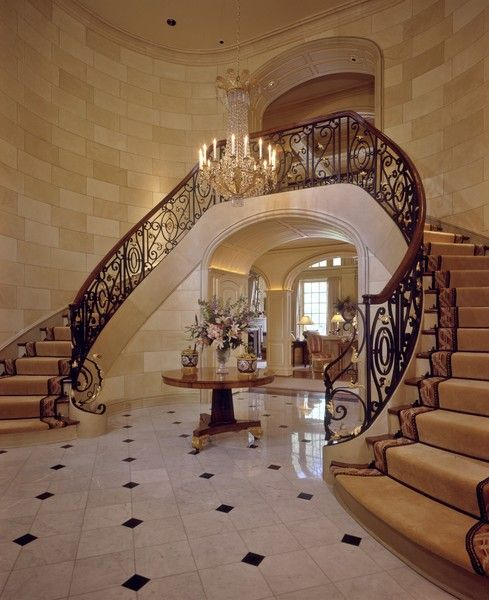 Grand Stairway Dallas Residential Photography Architectural Photographer And TX Interior