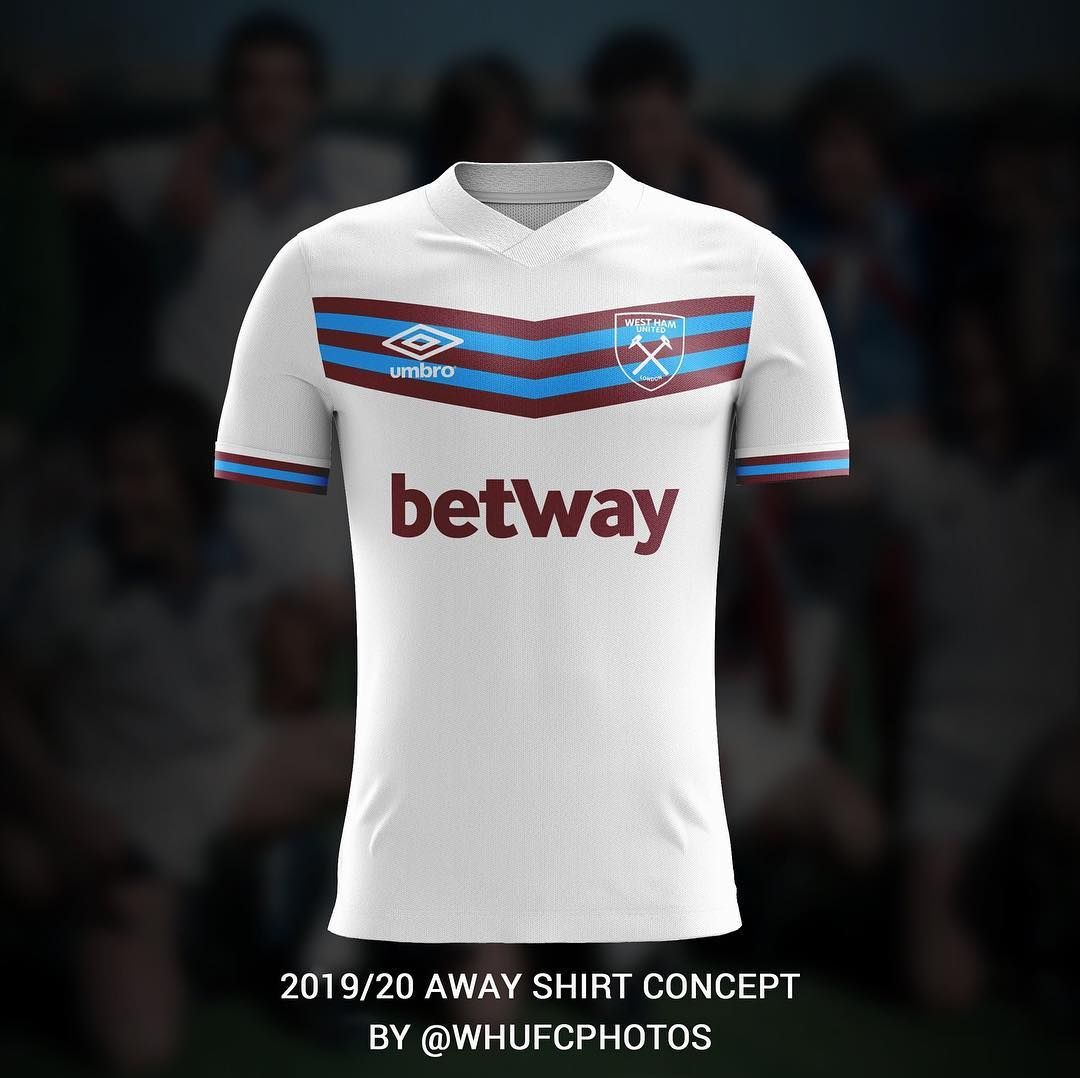 """012441826c2 whufc photos on Instagram: """"Over the next few months I will be creating a  range of 2019/20 concept shirt designs. With next season marking 40 years  since ..."""