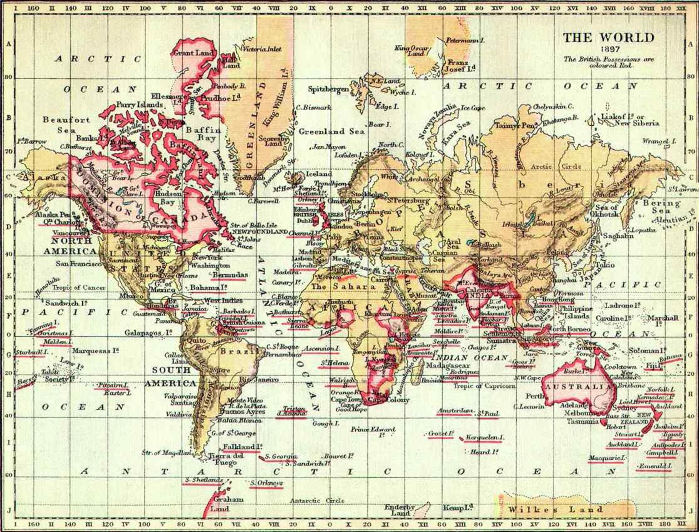 British empire c 1897 maps pinterest world map 1897 british empire gumiabroncs Gallery