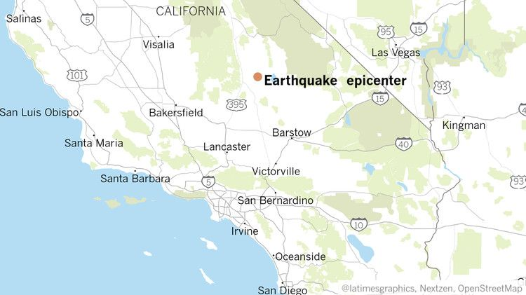 Damage To Homes But No Deaths Reported In 7 1 Magnitude California Earthquake Los Angeles Times Earthquake Major Earthquakes California