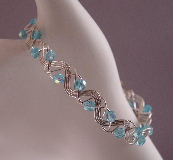sterling silver wire bracelet handmade by the Siesta Key Bead ...