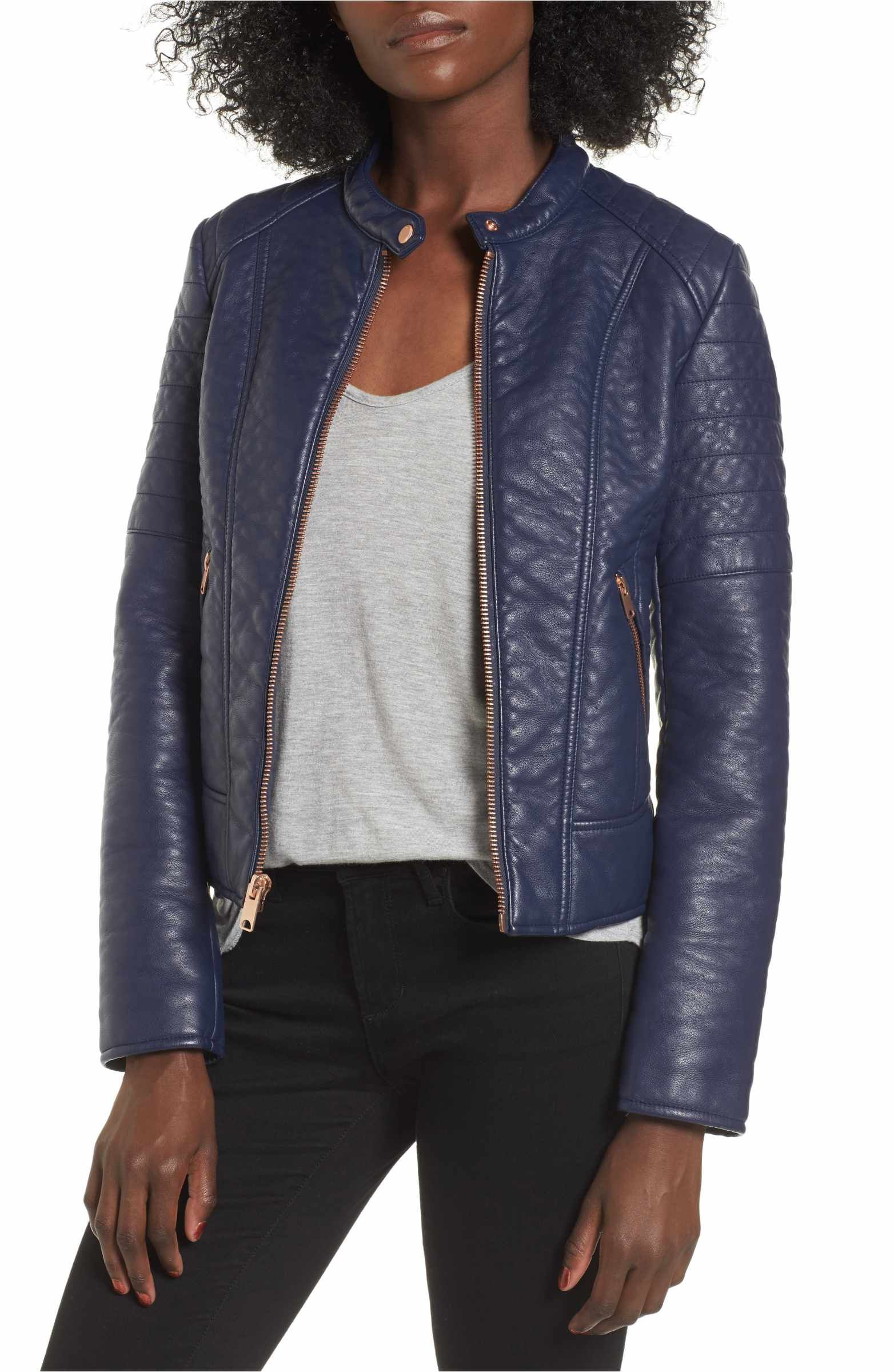 Andrew Marc Blakely Faux Leather Jacket (With images